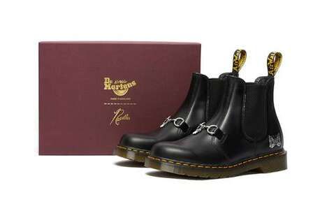 Vintage Graphic Chelsea Boots