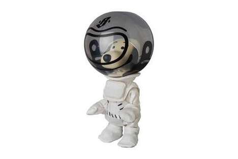 Cartoon Astronaut Dog Figurines