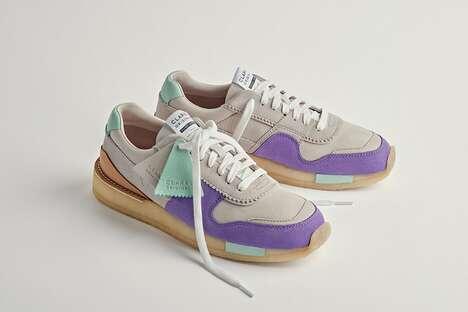 Pastel Suede Sneakers