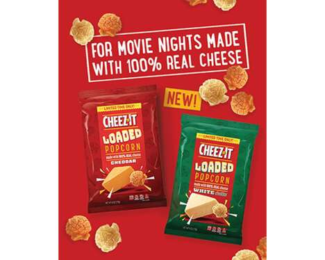 Cheesy Limited-Edition Popcorn Snacks