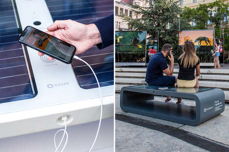 WiFi-Enabled Charger Smart Benches