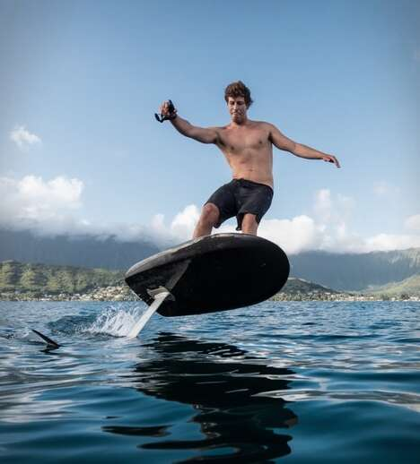 Responsive Aquatic Hydrofoil Surfboards