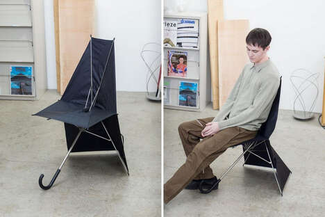 Umbrella-Shaped Folding Seats