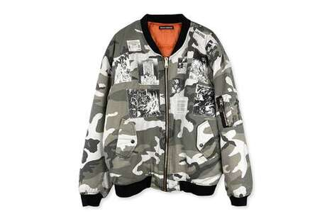 Anime-Detailed Bomber Jackets