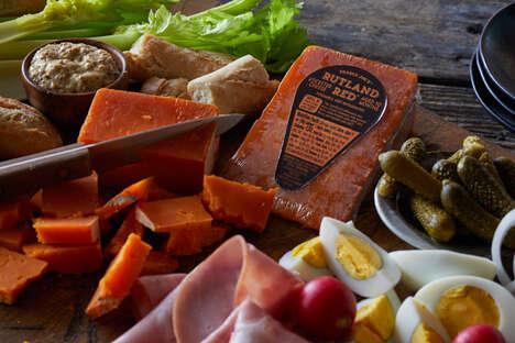 striking orange-hued cheeses