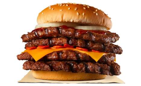 Spicy Quadruple Patty Burgers