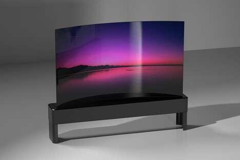 Flexible Curving OLED TVs