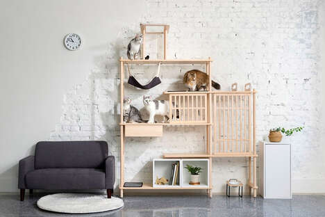 Modular Feline Furniture Sets