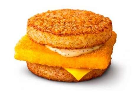 Rice Burger Fish Sandwiches