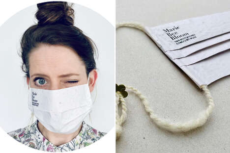 Plantable Seed-Infused Face Masks