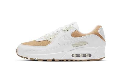 Earthy Tonal Paneling Sneakers