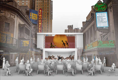 Open-Air Shipping Container Theaters