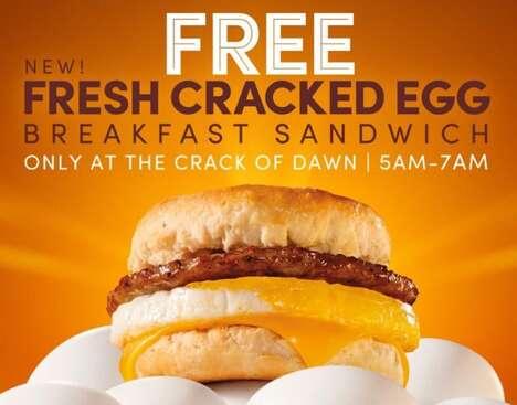 Yolky Egg Breakfast Sandwiches