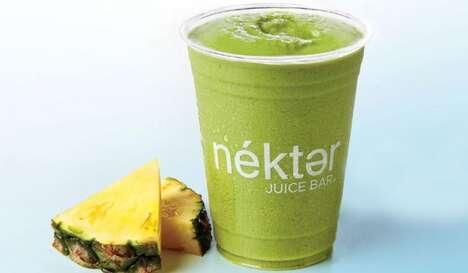Fruity Green Tea Smoothies