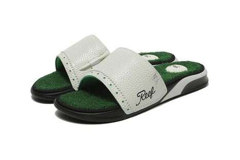 Bespoke Golf-Themed Shower Sandals
