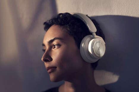 Elegant Metallic Accent Headphones