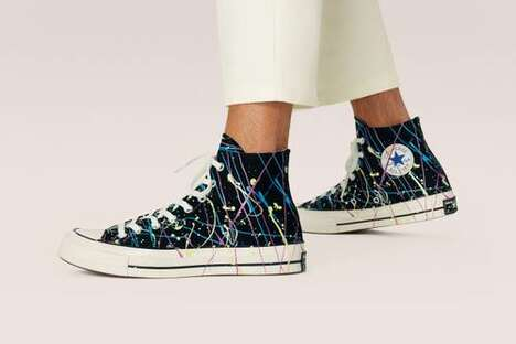 Paint Splatter Accented Footwear