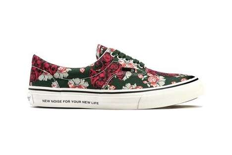Floral Printed Low-Cut Sneakers