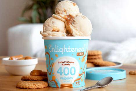 Low-Sugar Caramel Ice Creams