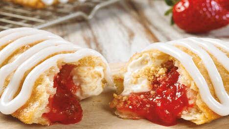 Seasonal Strawberry Cheesecake Pies
