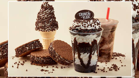 Chocolatey Morsel-Covered Ice Creams