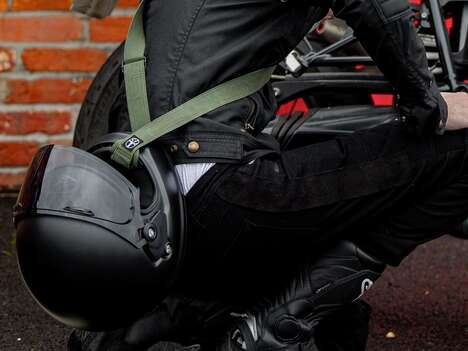 Helmet-Carrying Motorcyclist Accessories