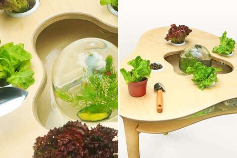 Therapeutic Aquaponics Tables