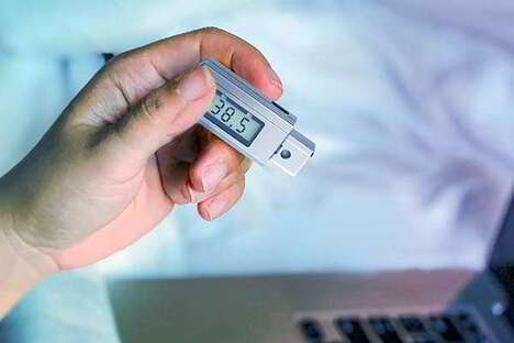 Keychain-Sized Thermometers