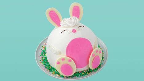 Cheerful Springtime Bunny Cakes