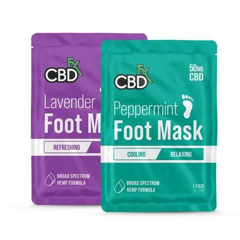 CBD-Infused Foot Masks