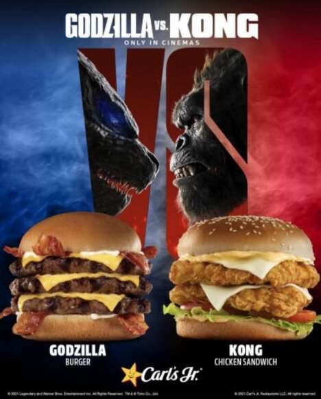 Cinematic Monster-inspired Burgers