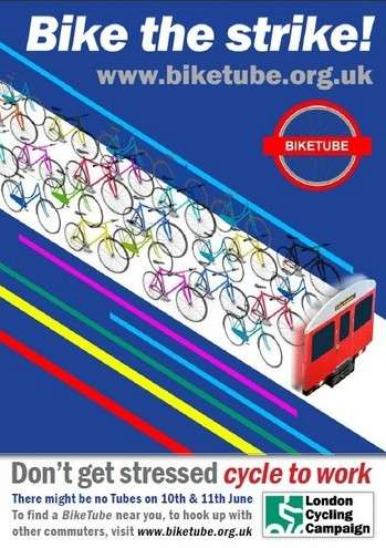 London Cycling Campaign's 'Bike Tube' for Subway Commuters