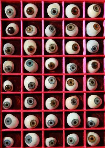 Eerie Eye Exhibits - London Science Museum's Creepy Glass Eyeball Collection