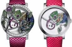 Wrist-Worn Reptiles - The Boucheron Chameleon Watch Blends in With Different Fashions