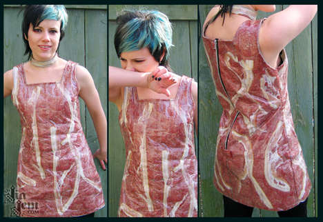 Meat Suits - Jia Jam's Real Bacon And Salami Dress for Aqua Teen Hunger Force