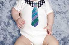 Formal Baby Wear - Opus Adult-Inspired Clothing for Babies Include Fake Ties