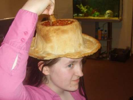 Edible Hats - The Homemade Nacho Hat Even Has a Built-In Dish For Salsa