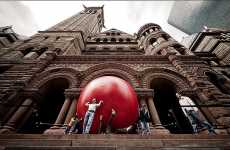 Giant Urban Balls - Kurt Perschke Redball Project Captivates Toronto During Luminato 2009