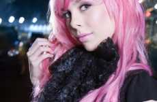 Tiny Hats & Pink Hair - Jacquelyn Marie's Anime Look for Patrick Mattison Shoot
