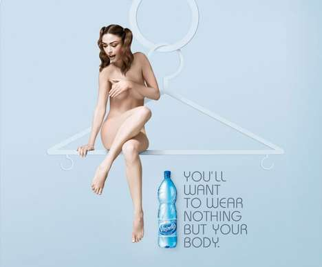 Nudevertising Water - Vitasnella Turns You Into a Stripper