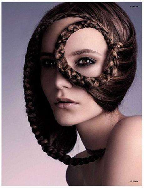 Hairy Masks - Intricate Braiding & Sculptured Hair Editorial for Vision Magazine