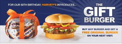 Free Fast Food - Harvey's Celebrates 50th Birthday With Edible Gifts for Customers