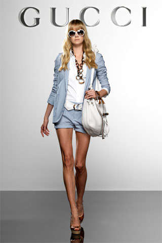 Short-Short Denim Suits - Gucci Resort 2010 Collection Was All About Flaunting the Legs