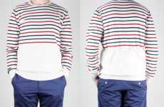 Back-Pocket Sweaters - Wood Wood's 'Coppi Stripe Crew' Shirt Puts a Spin on a Clas