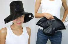 Hat Bags - Azumi and David Create Leather Hybrid Accessories for Your Head