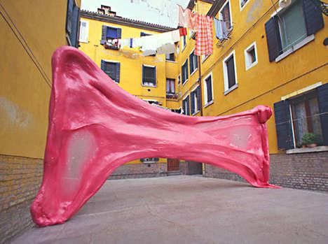 Giant Bubble Gum Sculptures
