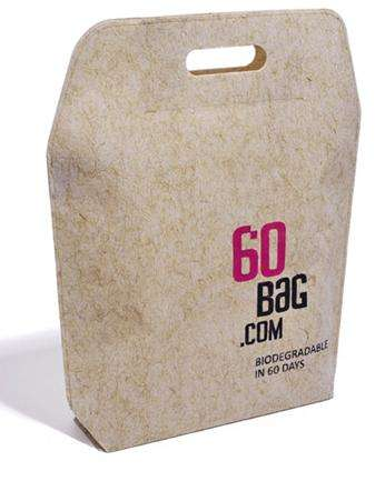 Biodegradable Shopping Bags - The Eco-Friendly 60 Bag Disintegrates in 60 Days