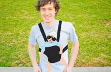 Fake Baby Shirts - 'The Hangover' Features a Sunglass-Wearing Baby in a Carrier