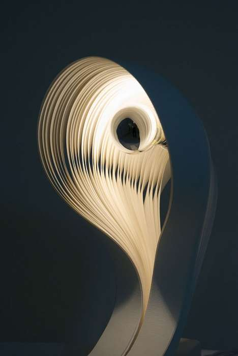 Intricate Papercraft Lamps - 7GODS Light Installments Embrace Delicate Decor