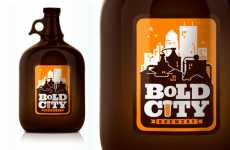 Retro Cartoon Beer - Bold City Brewery Uses Old-School Style Prints on Labels
